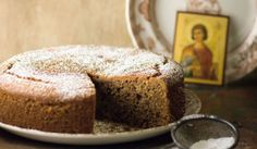 Fanouropita, the lost and found cake Photo by: Greek Table Cooking Greek Sweets, Greek Desserts, Greek Recipes, Desert Recipes, Healthy Desserts, Healthy Food, Round Cakes, Cake Recipes, Sweet Treats