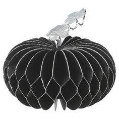 "Sparkle 9.5"" Pumpkin Decor in Black"