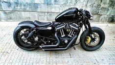 Harley Bobber, Harley Bikes, Bobber Chopper, Hd Sportster, Harley Davidson Sportster, Bobber Bikes, Bobber Motorcycle, Custom Street Bikes, Custom Bikes