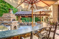 At Home Retreat - rustic - patio - columbus - by Hidden Creek Landscaping, Inc.
