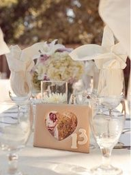 Personalize table numbers