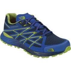 The North Face Ultra Endurance Trail Running Shoe Cosmic Blue/Macaw Green 10.0