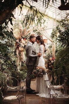 best=Nina and Jure Bohemian Botanical Greenhouse Elopement by Everything Beyond Boho Weddings For the Boho Luxe Bride Prom Dresses Girl Botanical Wedding Theme, Botanical Gardens Wedding, Garden Wedding, Indian Wedding Theme, Forest Wedding, Woodland Wedding, Wedding Themes, Wedding Colors, Wedding Decorations