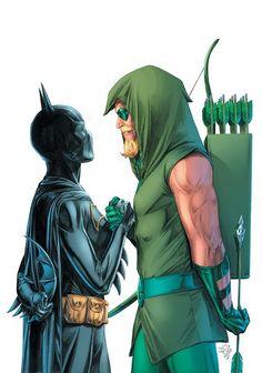 Green Arrow and Batgirl by Doug Braithwaite