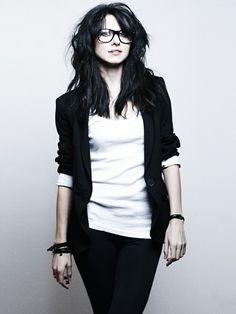 Smart Girl Wearing Nerd Style Glasses