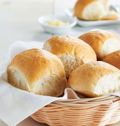 Classic Dinner Rolls - Traditional soft bread rolls, lightly finished with an egg wash.