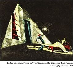 Set and costume designs by Viennese stage designer, Harry Täuber, former pupil of Franz Cizek and gold medallist in the Theatre Arts Exhibition at the 1925 International Exhibition of Decorative Art in Paris.