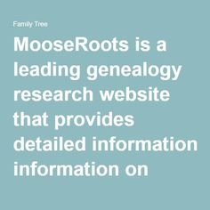 MooseRoots (now FamilyTree) is a leading genealogy research website that provides detailed information on more than 1 billion historical genealogical records. It is completely free to use. It is also a FamilySearch compatible computer app. Free Genealogy Sites, Genealogy Search, Family Genealogy, Ancestry Websites, Genealogy Humor, Family Tree Research, Family Tree Chart, Family Trees, Informative Essay