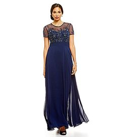 JS Collections Embellished FloralLace Gown #Dillards