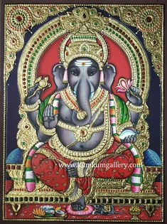 Kerala Mural Painting, Tanjore Painting, Ganesh Chaturthi Greetings, Lord Murugan Wallpapers, Bal Gopal, Ganesha Pictures, Hindu Dharma, Ganesha Painting, Foot Prints
