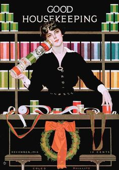 Good Housekeeping, 1916  Coles Phillips  courtesy of Vintage Advertising and Poster Art