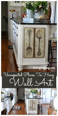 Unexpected ways to display kitchen art