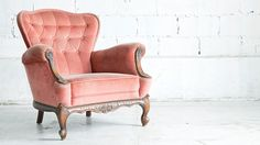 Be responsible for harmonious living spaces and efficient commercial environments by investing in this interior design online short course, certified by UCT in South Africa. Wingback Chair, Armchair, Pink Sofa, Coral, Home Hacks, Girls Bedroom, Home Projects, Home Furniture, Vintage Furniture