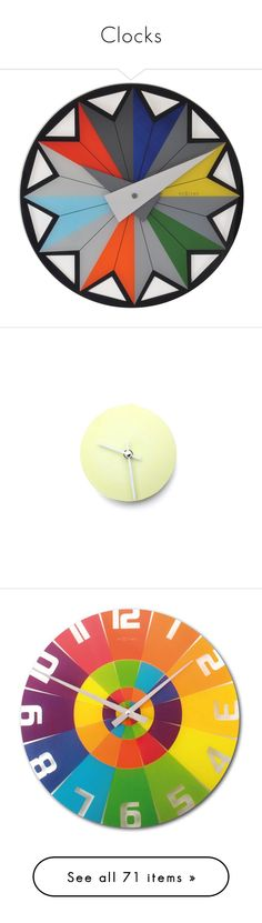 """""""Clocks"""" by valentina1 ❤ liked on Polyvore featuring home, home decor, clocks, clock, colorful home decor, nextime wall clock, inspirational home decor, nextime, multi colored wall clocks and porcelain clock"""