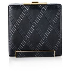 Halston Heritage Large Box Geo Embossed Minaudiere ($395) ❤ liked on Polyvore featuring bags, handbags, clutches, black, black purse, black handbags, halston heritage, halston heritage handbags and halston heritage purse