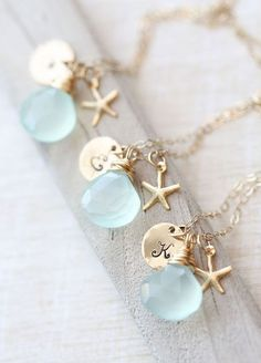 Items similar to Bridesmaid Necklace Set, Bridesmaid GIFT SET of THREE Personalized Gold Necklaces, Bridesmaid Necklaces, Wedding Jewelry, Bridesmaid Jewelry on Etsy Gold Bridesmaids, Bridesmaid Gifts, Bridesmaid Necklaces, Bridesmaid Dresses, Beach Wedding Bridesmaids, Bridesmaid Jewelry Sets, Starfish Necklace, Necklace Set, Dream Wedding