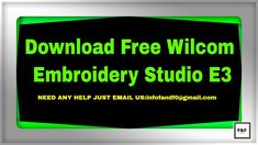 Download Free Wilcom Embroidery Studio E3 Embroidery Design Software, Embroidery Designs, Studio, Youtube, Free, Stitching Patterns, Studios, Study, Youtubers