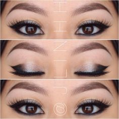 Cat eye makeup for A...
