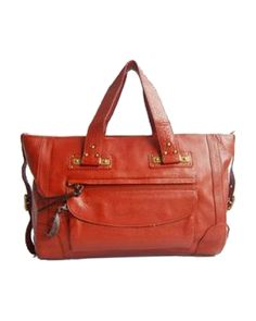 Chloe Calf Leather Handbag Whiskey
