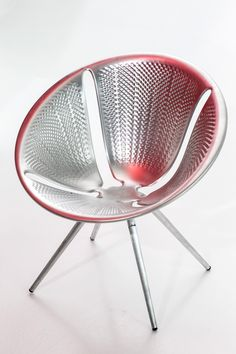 Diatom, Stackable Aluminum Chair by Ross Lovegrove for Moroso