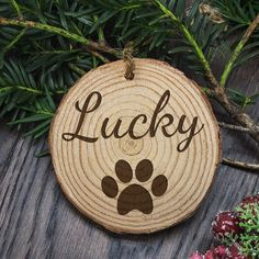 Engraved Dog Paw Christmas Tree Decoration by The Letteroom, the perfect gift for Explore more unique gifts in our curated marketplace. Cat Christmas Tree, Wooden Christmas Tree Decorations, Christmas Animals, Rustic Christmas, Christmas Ideas, Holiday Ideas, Christmas Ornaments, Personalised Christmas Decorations, Personalized Christmas Gifts