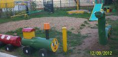 детская площадка и шины