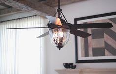 """Ellington E-KM52ABZ5LKRCI Knightsbridge 52"""" Aged Bronze Ceiling Fan"""