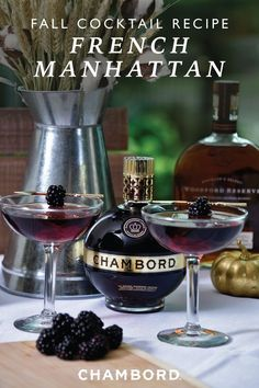 Nothing captures your sophisticated fall affair like this French Manhattan cocktail recipe. Pair this combination of Chambord Black Raspberry Liqueur, Woodford Reserve® bourbon, and bitters with your autumnal party for the perfect signature drink idea.