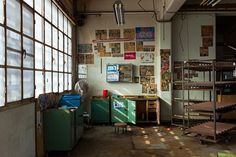inside the abandoned tobacco industry KERANIS in Pireaus, Greece