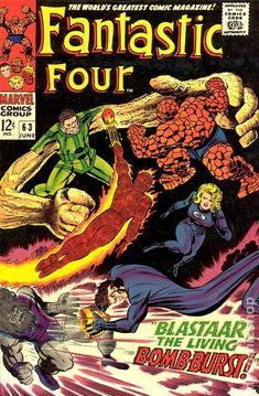 Fantastic Four (1961 1st Series) 63 Marvel Comics Modern Age Comic book covers Super Heroes Villians Sue Storm Reed Richards The Thing Human Torch Fantastic Four