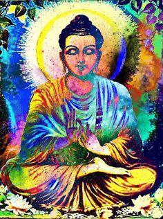 Rainbow bouddha