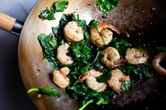 Stir-Fried Sesame Shrimp and Spinach Recipe - NYT Cooking