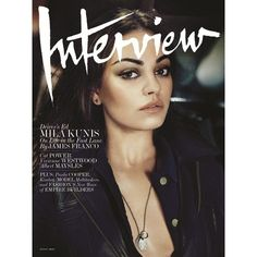Interview Cover August 2012 ❤ liked on Polyvore