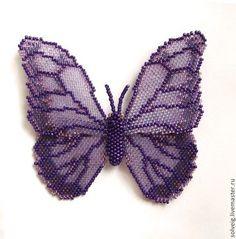 Купить или заказать Бабочки в интернет-магазине на Ярмарке Мастеров. Бабочка из бисера может использоваться как брошь, украсить Вашу сумку или предмет интерьера.