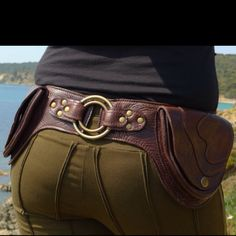 Leather belt bag. A step up frm a fanny pack!