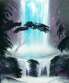 Jungle Waterfall - Spray Paint Art ( TO CHCI DOMŮ :3 ! )
