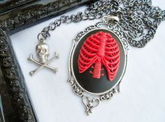 Anatomical Rib Cage Cameo Necklace, via Etsy.