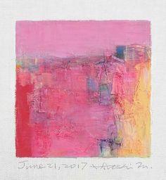 "June 21, 2017 9 cm x 9 cm (app. 4"" x 4"") oil on canvas © 2017 Hiroshi Matsumoto"