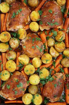 Garlic Ranch Roasted Chicken and Veggies