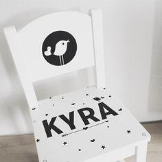 Geboortestoeltje gemaakt op aanvraag n.a.v. het #geboortekaartje Kyra #suededesign