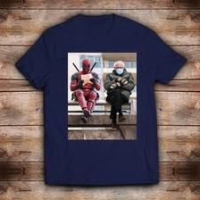 Bernie Sanders Inauguration Sitting With Deadpool Unisex Etsy In 2021 Unisex Tshirt Popular Tee Tee S