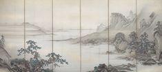Japanese Landscape, Landscape Art, Landscape Paintings, Landscape Designs, Japan Painting, China Painting, Hand Painted Wallpaper, Korean Art, Japan Art