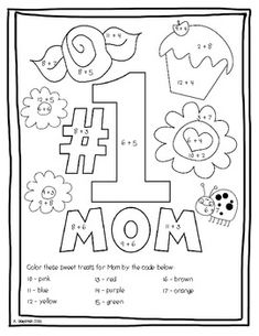 5 sets of flower pot poems in different fonts for Mother's