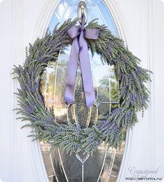 Lavender wreath - Picture tutorial, super, trau dich mich !!!!!!!!!