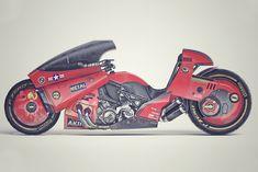 Kaneda Fahrrad - Kaneda Bike Akira – Kanedas Power Bike von James Qiu on Behance Kaneda Bike, Akira Kaneda, Sv 650, Katsuhiro Otomo, Concept Motorcycles, Triumph Motorcycles, Custom Motorcycles, Ducati Diavel, Stunt Bike
