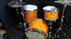 Ludwig Down Beat Mod Orange. I renovated them to Johan Carlsson.