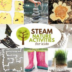 Take learning outside with STEAM Nature Activities for Kids. Learn using science, tech, engineering, art, & math while you explore plants, animals, & more! Nature Activities, Steam Activities, Animal Activities, Brain Activities, Summer Activities For Kids, Kindergarten Activities, Toddler Activities, Outdoor Activities, Outdoor Learning