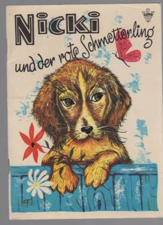 Vintage Dachshund book - Nicki und der rote Schmetterling (Nicki and the Red Butterfly)