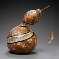 Superbly Awesome Gourd Carving Art by Marilyn Sunderland