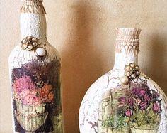Vintage Crackle Flaschen